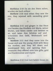 Kindle の独英対訳の聖書