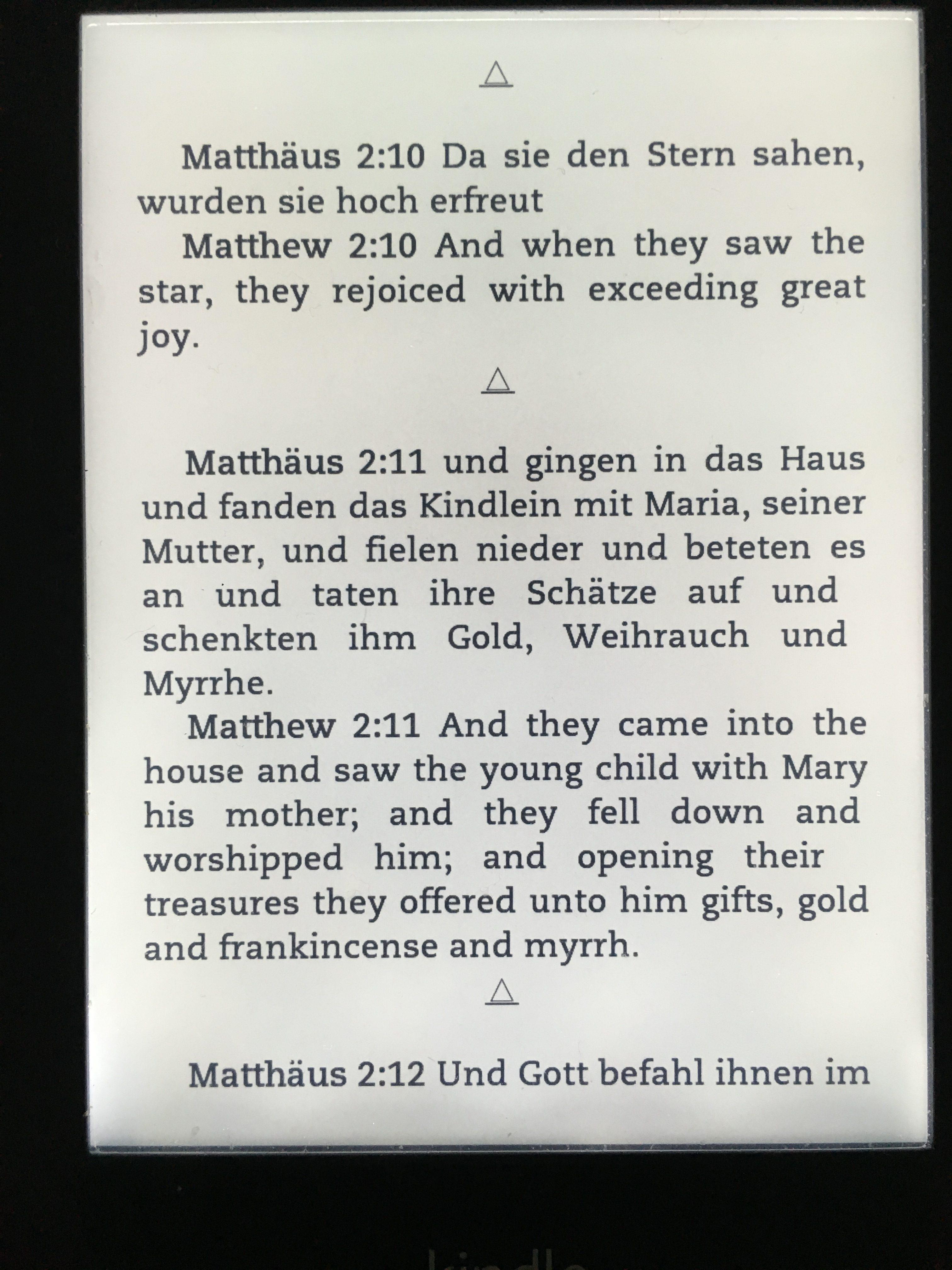 祇園祭、聖書の独英語版