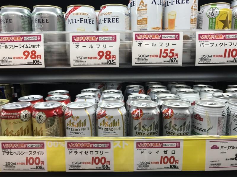 ノンアルコールビールを2缶買う。