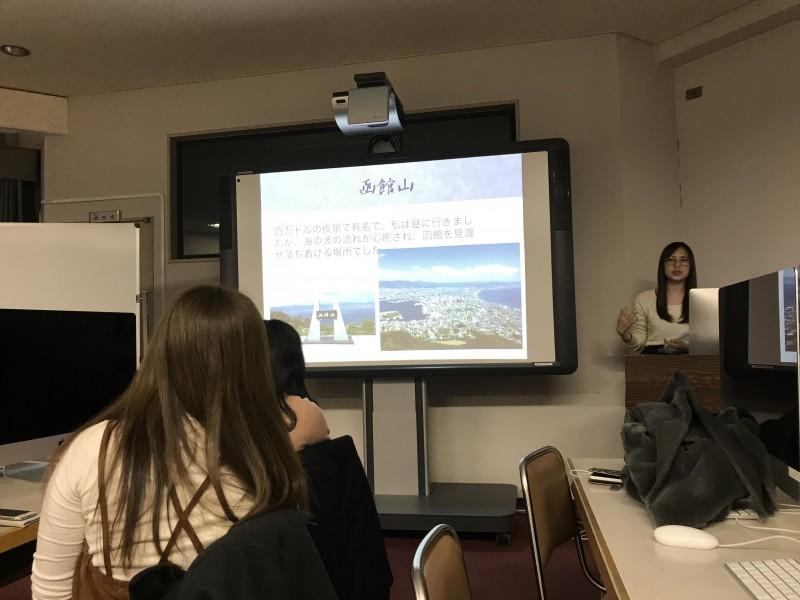 地域研究の授業で北海道の発表があった。