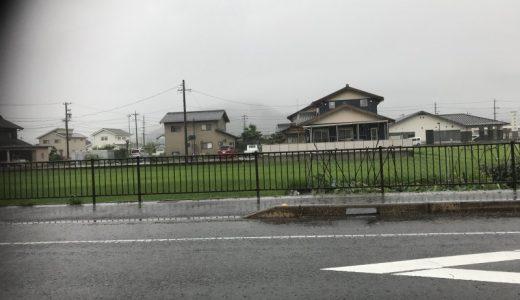 岐阜は雨が降っている。