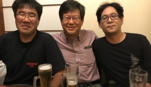 京都で、教え子3名と会食をした。
