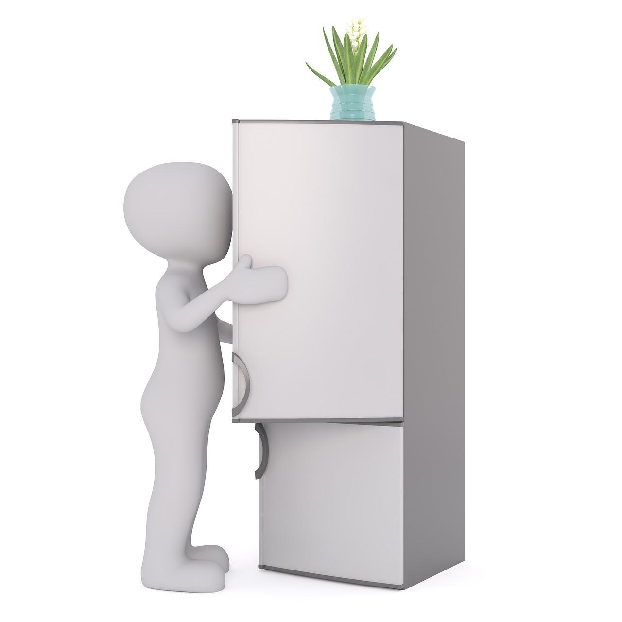 冷蔵庫を運ぶ。