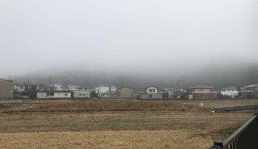 霧が深い日である。