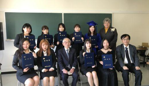 学科・専攻に分かれての卒業式